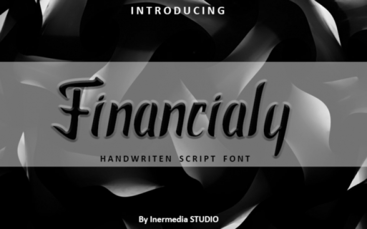 Financialy font preview