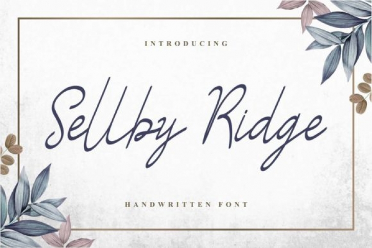 Sellby Ridge font preview