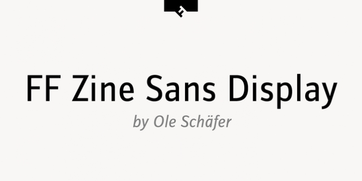 FF Zine Sans Display font preview
