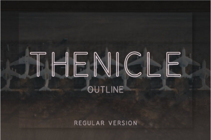 Thenicle Outline Regular font preview