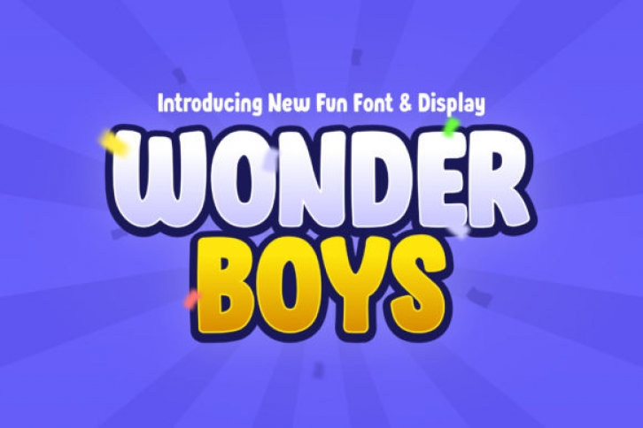 Wonder Boys font preview