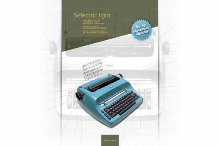 Selectric Light font preview