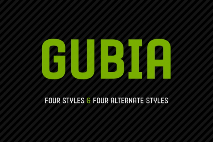 Gubia Family font preview