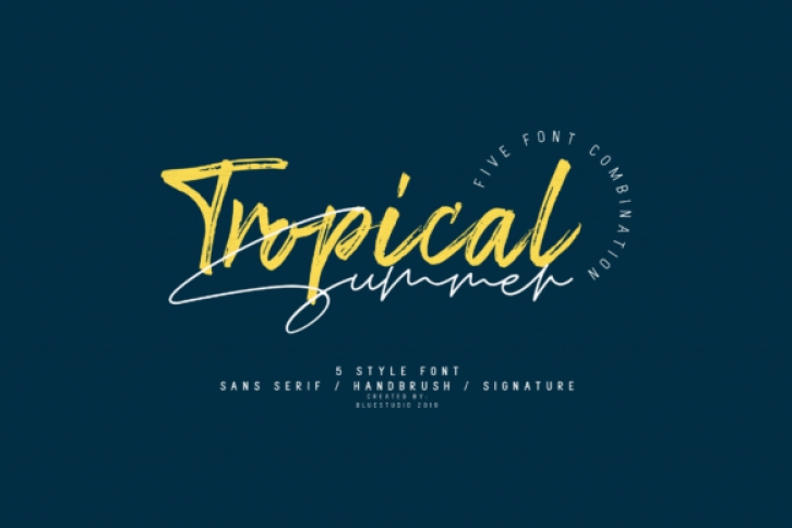 Tropical Summer font preview