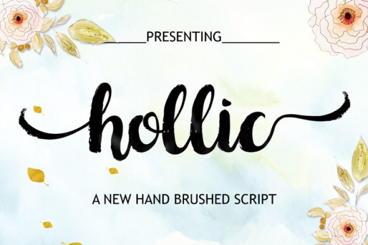 Hollic font preview