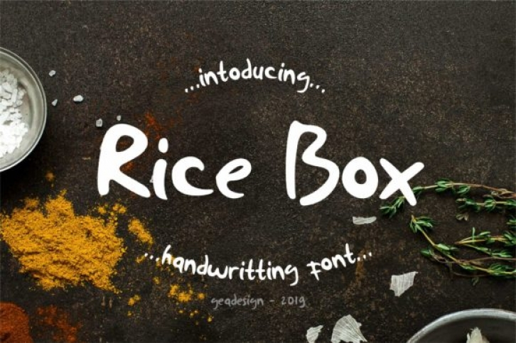 Rice Box font preview