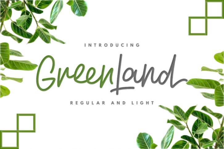 Greenland Duo font preview