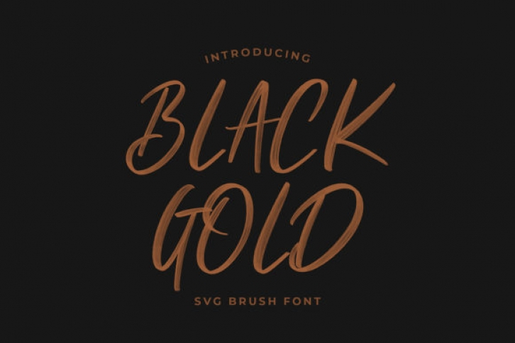 Black Gold font preview