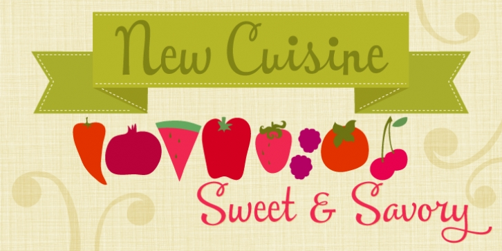 New Cuisine font preview