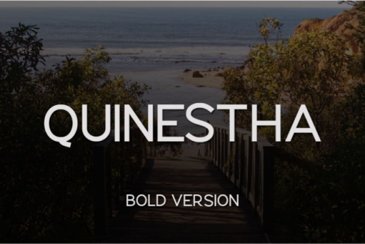 Quinestha Bold font preview