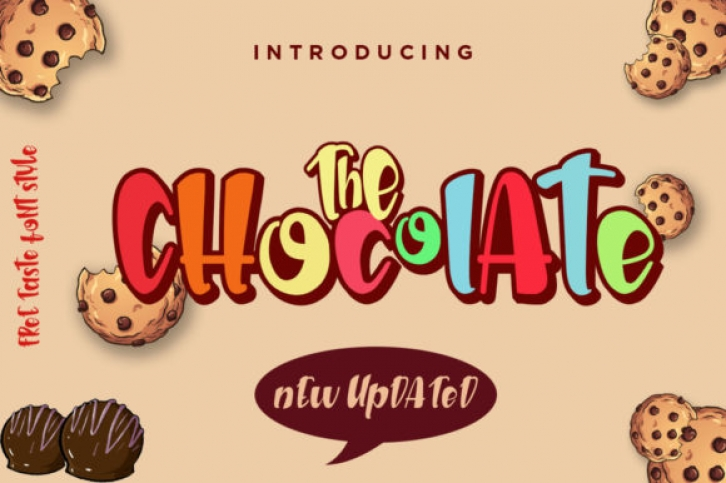 The Chocolate font preview
