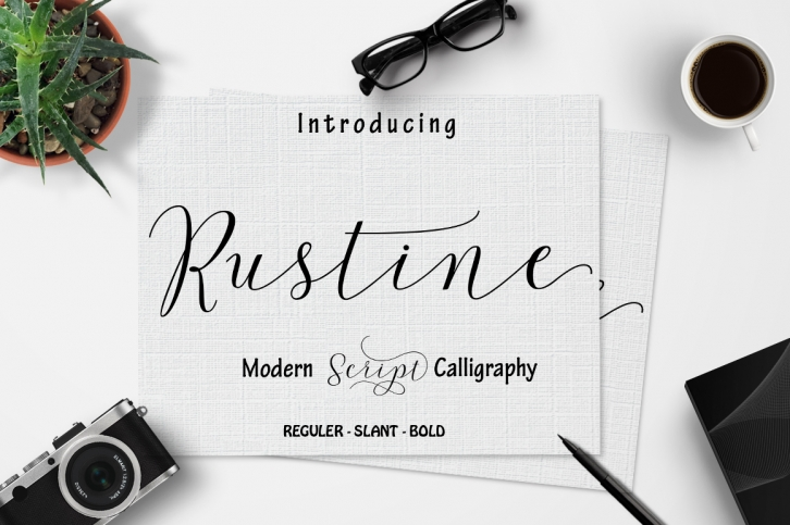 Rustine font preview