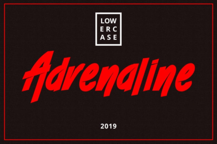 Adrenaline font preview