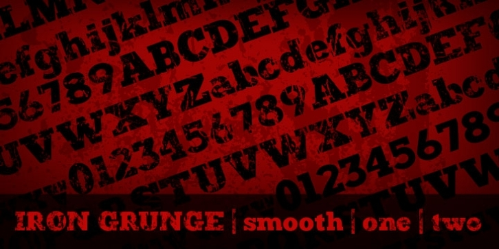 Iron Grunge font preview