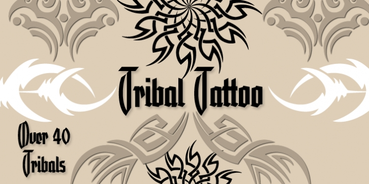 Tribal Tattoos III font preview