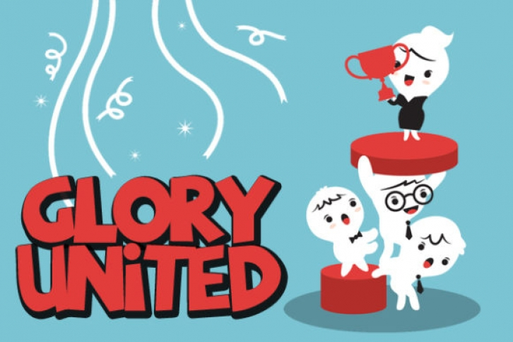 Glory United font preview