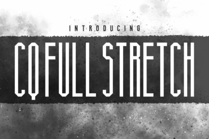 CQ Full Stretch font preview