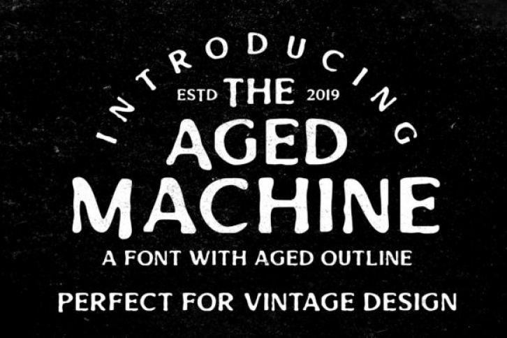 Aged Machine font preview