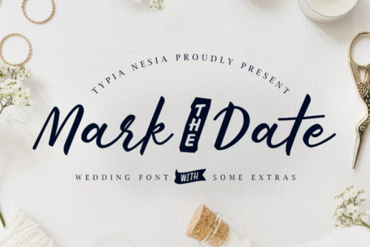 Mark the Date font preview
