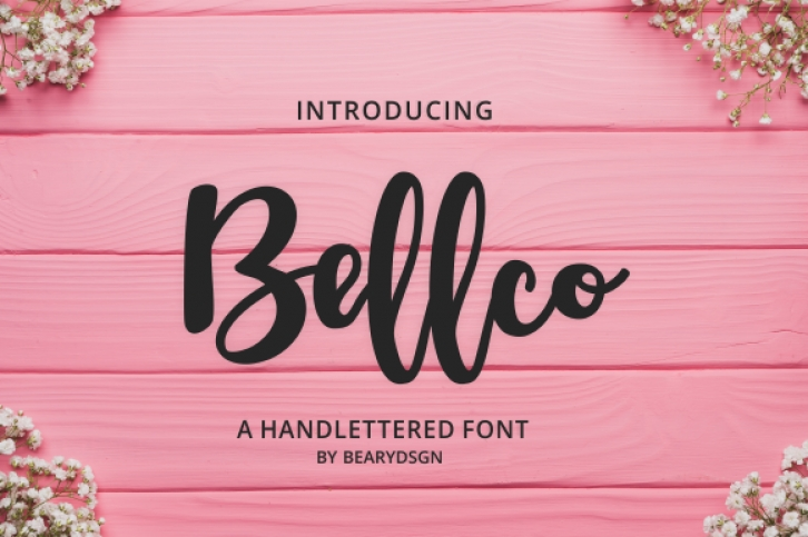 Bellco font preview