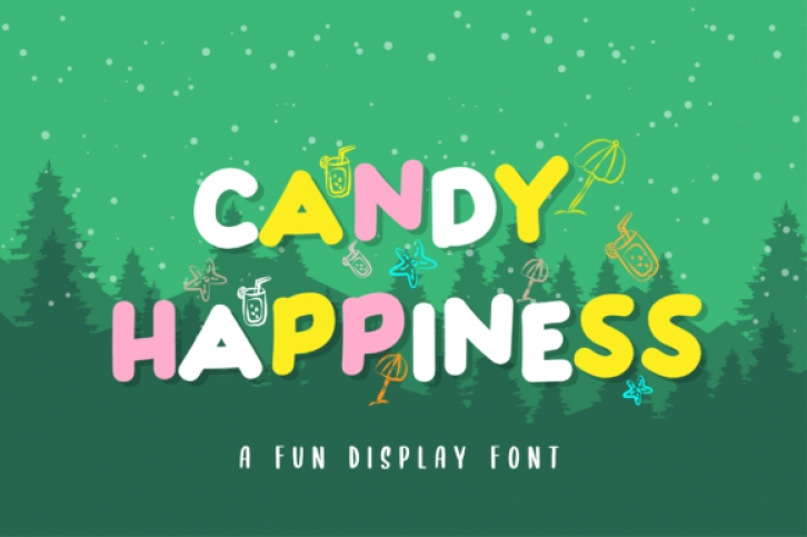 Candy Happiness font preview