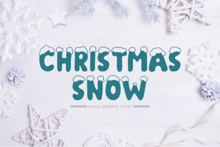 Christmas Snow font preview