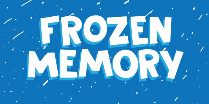 Frozen Memory font preview