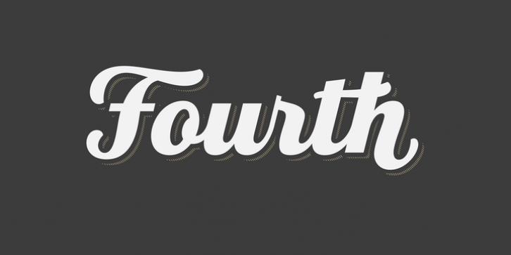 Fourth font preview