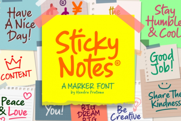 Sticky Notes font preview