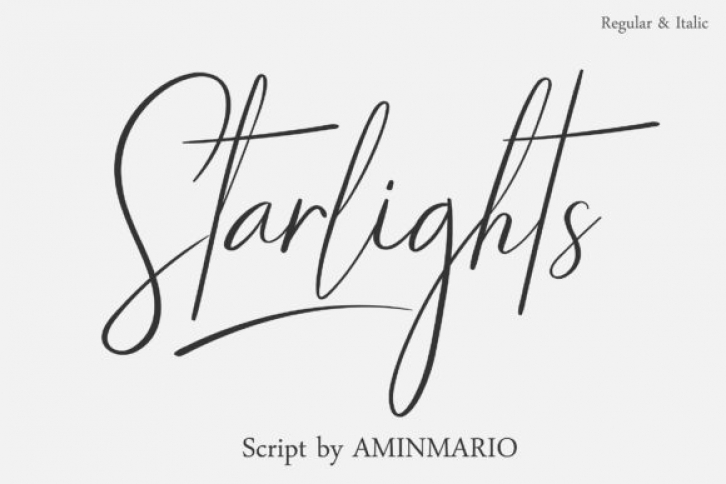 Starlights font preview