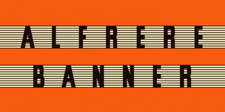 Alfrere Banner font preview