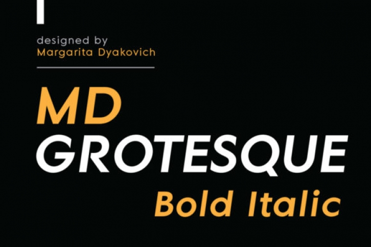 MD Grotesque Bold Italic font preview
