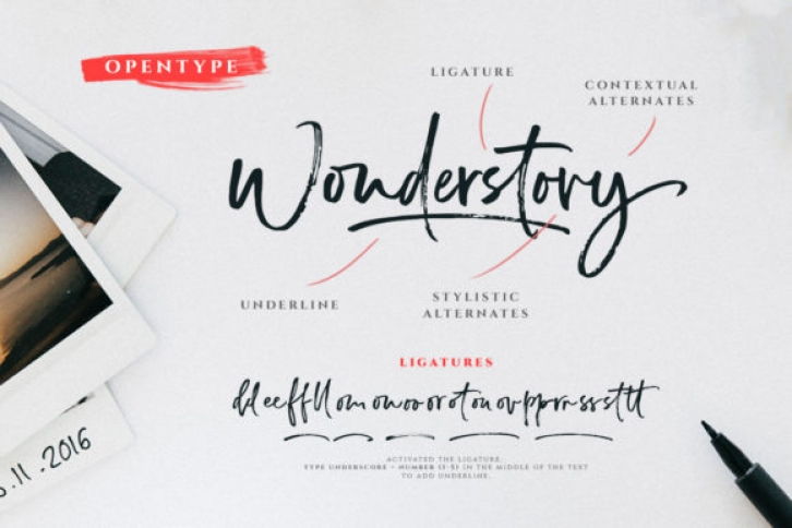 Wonderstory font preview