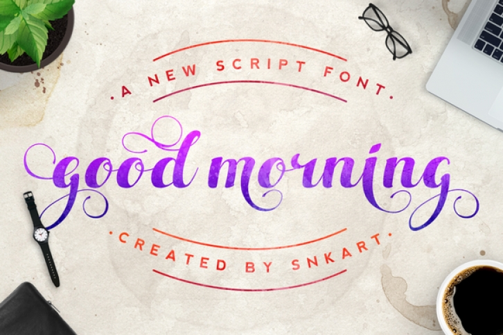 Good Morning font preview