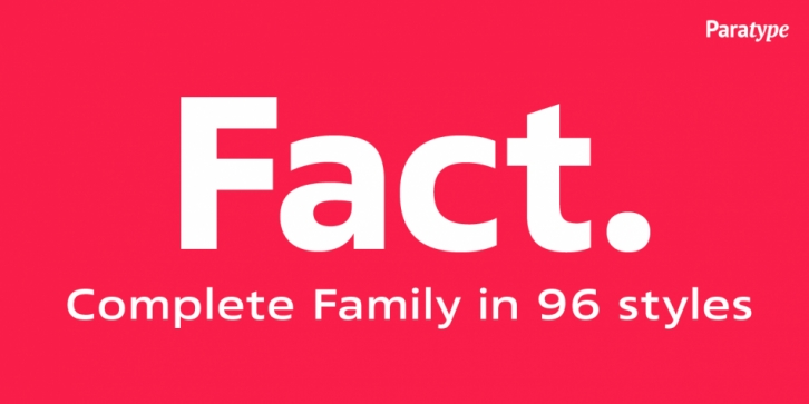Fact font preview