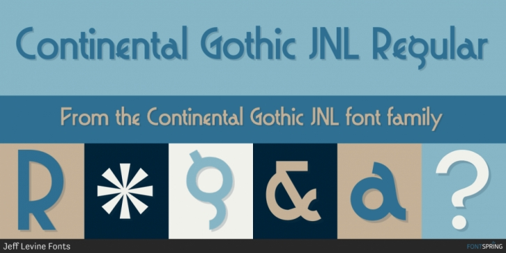 Continental Gothic JNL font preview