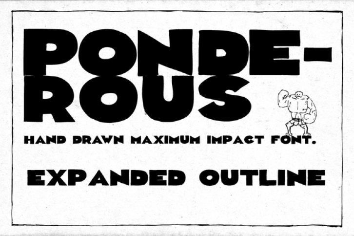 Ponderous Expanded font preview