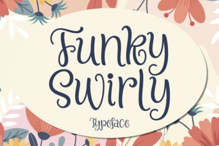 Funky Swirly font preview