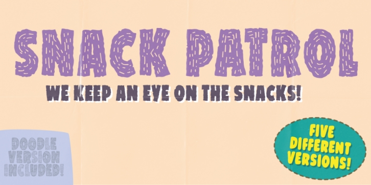 Snack Patrol font preview