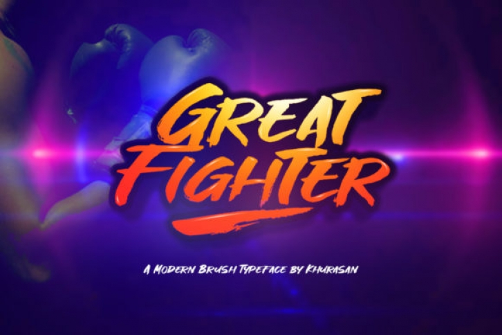 Great Fighter font preview
