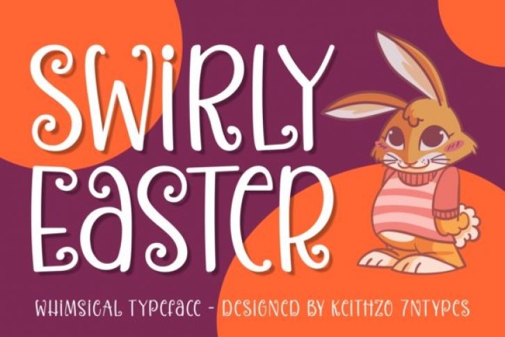 Swirly Easter font preview