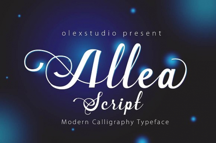 New Allea font preview