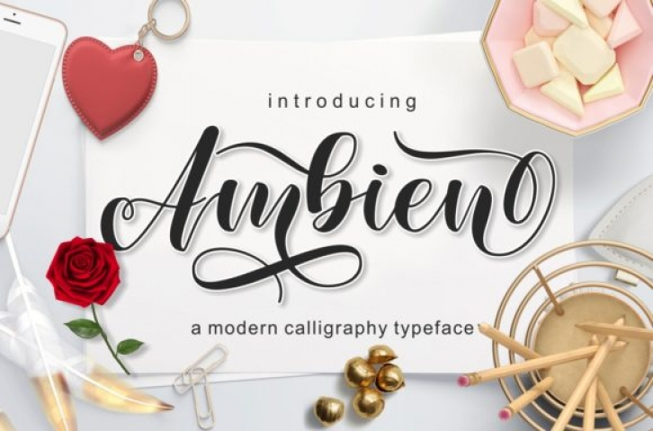 Ambien font preview