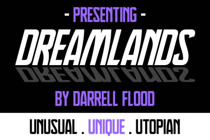 Dreamlands font preview