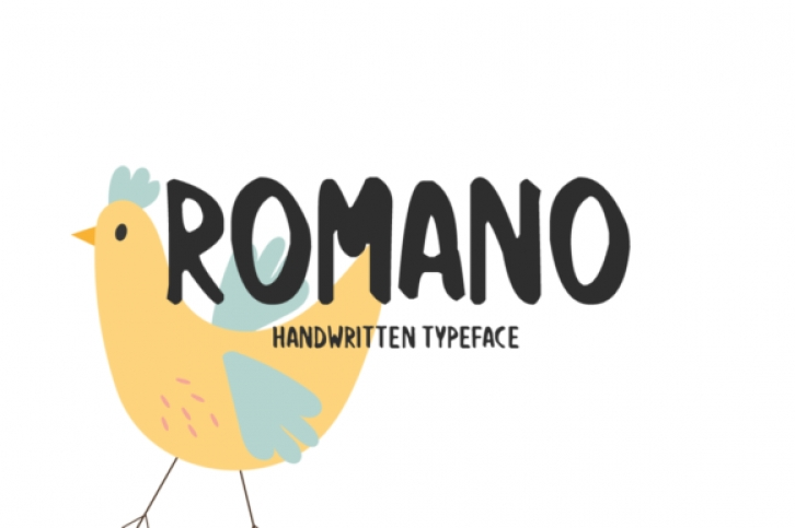 Romano font preview