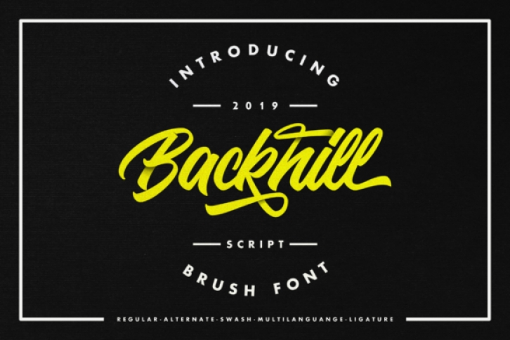 Backhill font preview