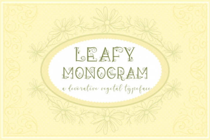Leafy Monogram font preview