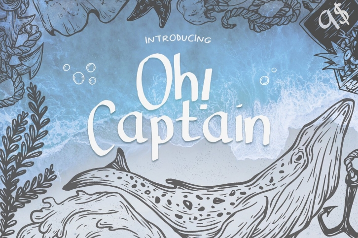 Oh Captain font preview