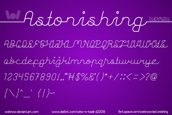 Astonishing font preview