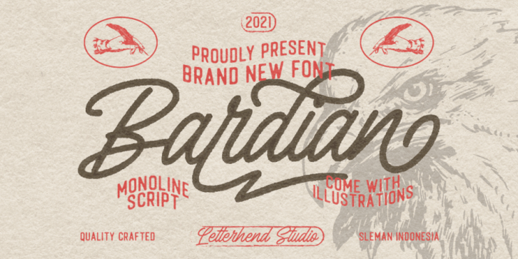Bardian font preview
